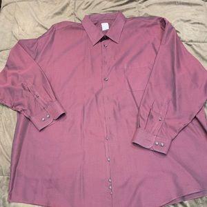 Men's maroon/black dress shirt